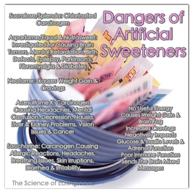 Lists the dangers of artificial ingredients and diseases they may cause.