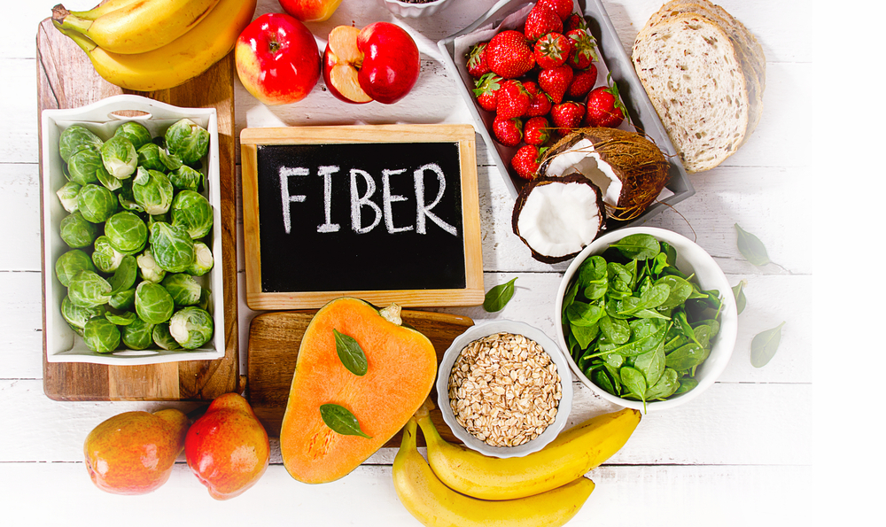 Fiber with fruits and vegtables